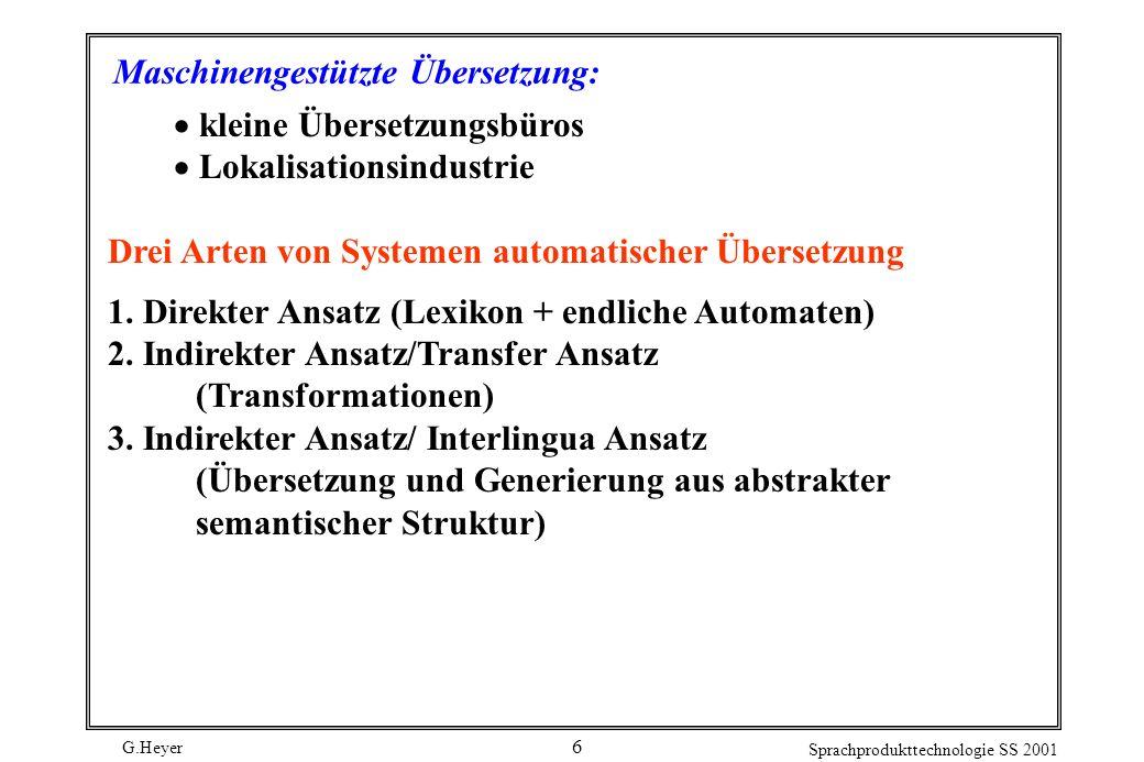 Maschinengestützte Übersetzung: