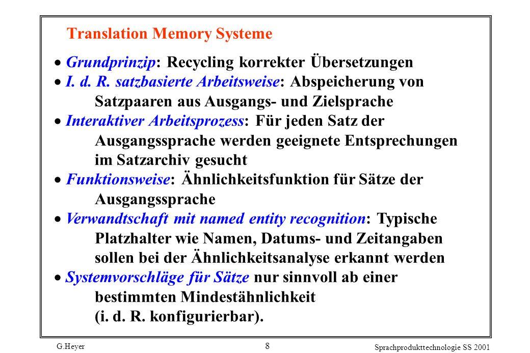 Translation Memory Systeme