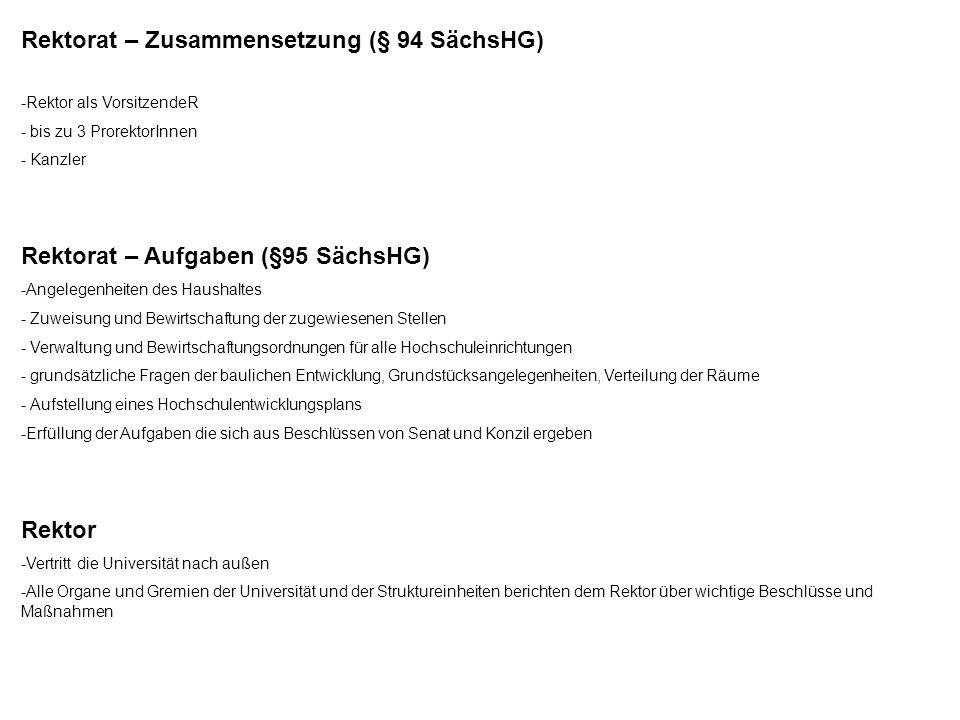 Rektorat – Zusammensetzung (§ 94 SächsHG)