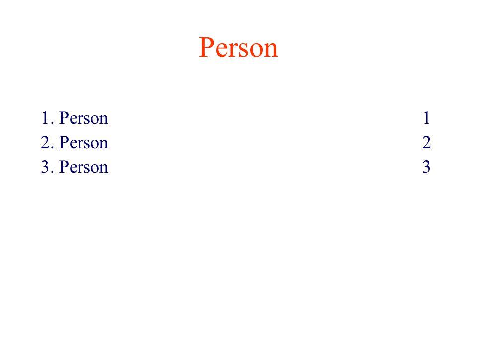 Person 1. Person 1 2. Person 2 3. Person 3