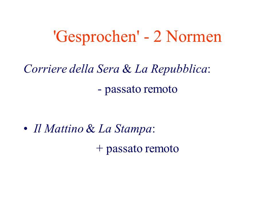 Gesprochen - 2 Normen Corriere della Sera & La Repubblica: