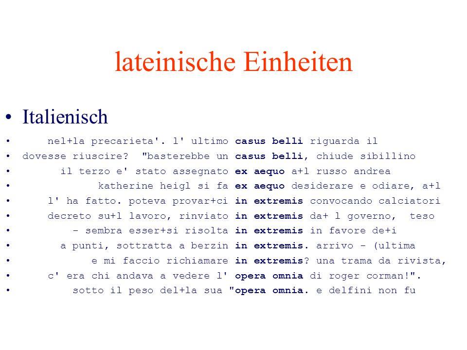 lateinische Einheiten