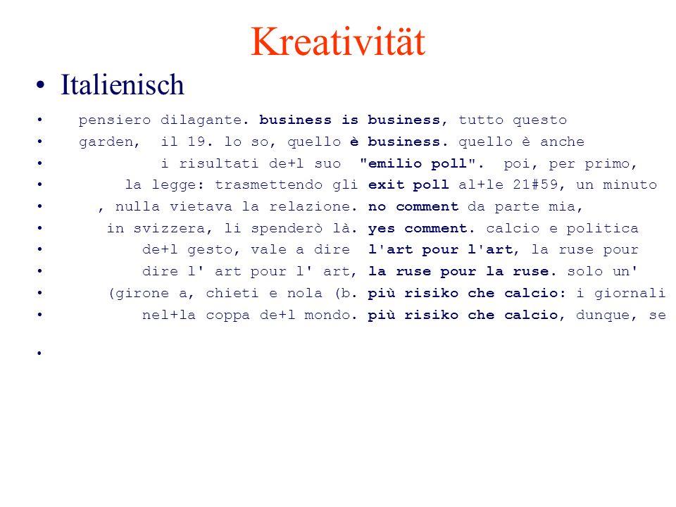 Kreativität Italienisch