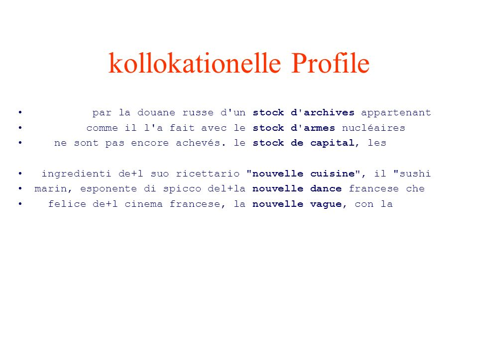 kollokationelle Profile