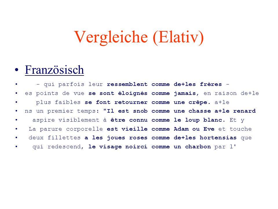 Vergleiche (Elativ) Französisch