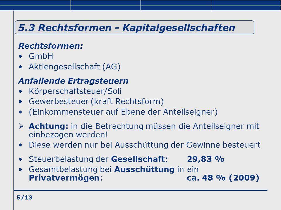 5.3 Rechtsformen - Kapitalgesellschaften