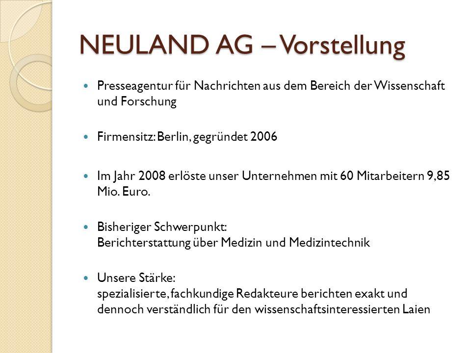 NEULAND AG – Vorstellung