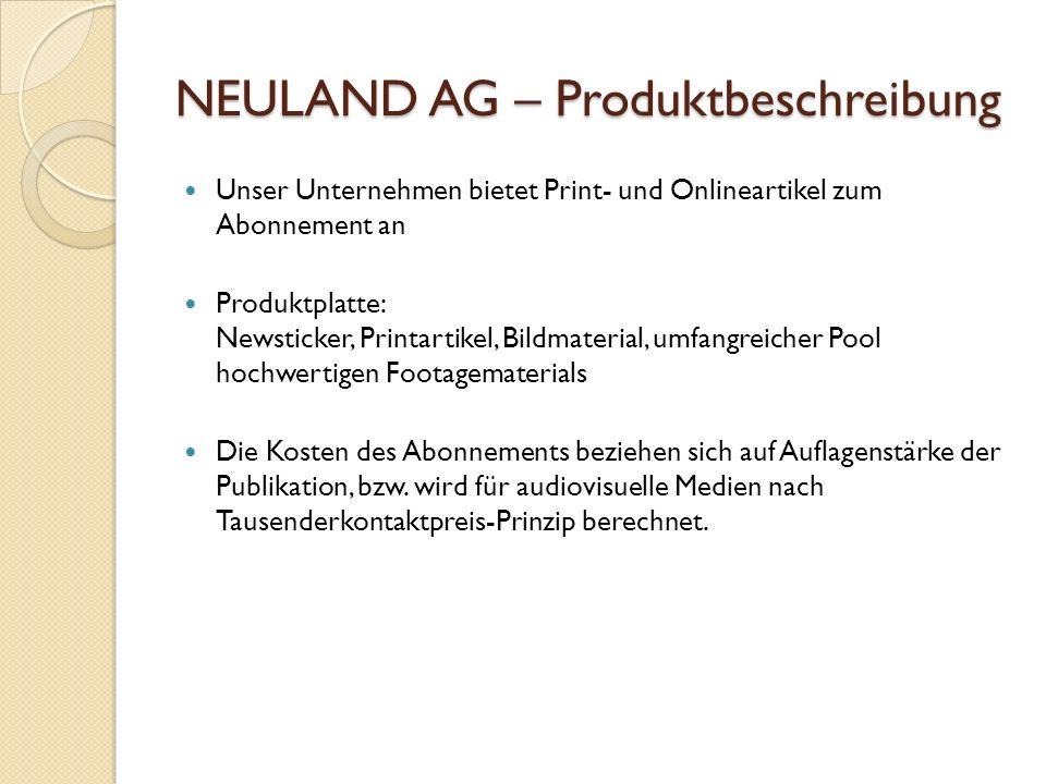 NEULAND AG – Produktbeschreibung