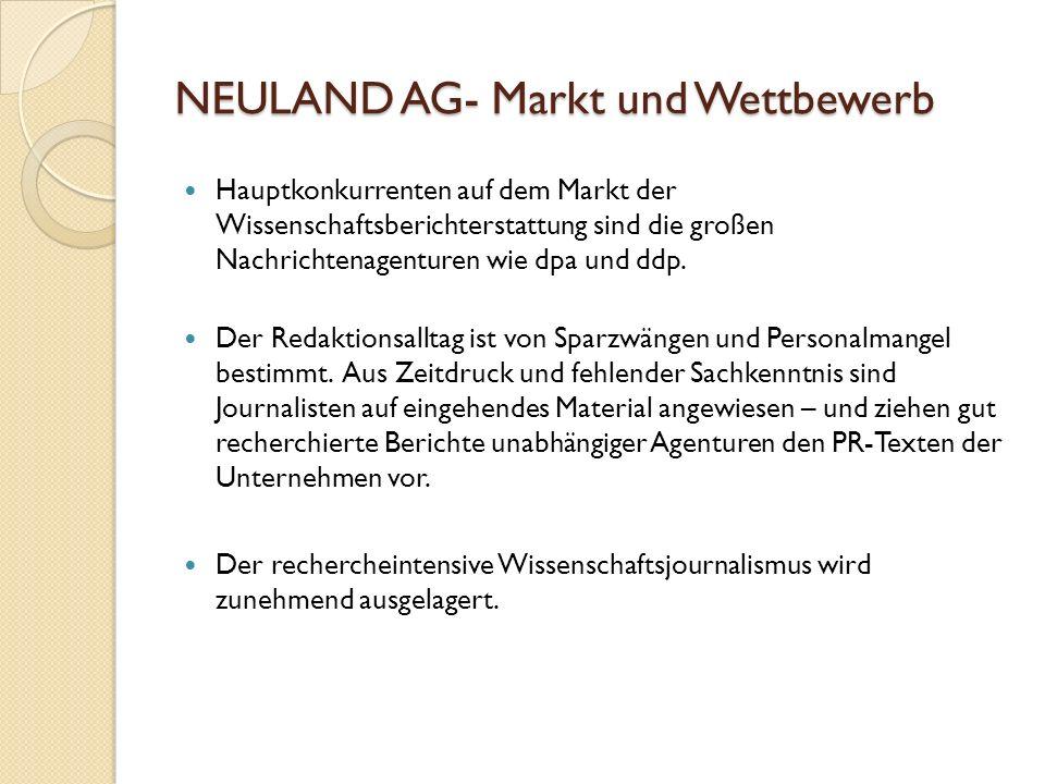 NEULAND AG- Markt und Wettbewerb