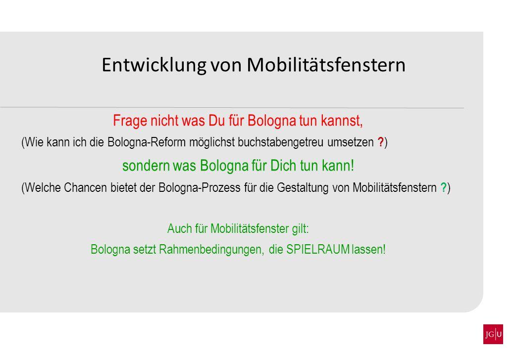 Entwicklung von Mobilitätsfenstern