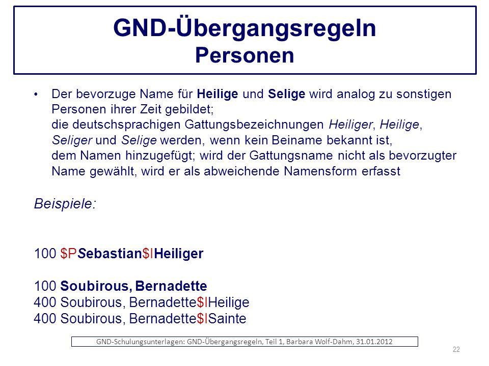 GND-Übergangsregeln Personen