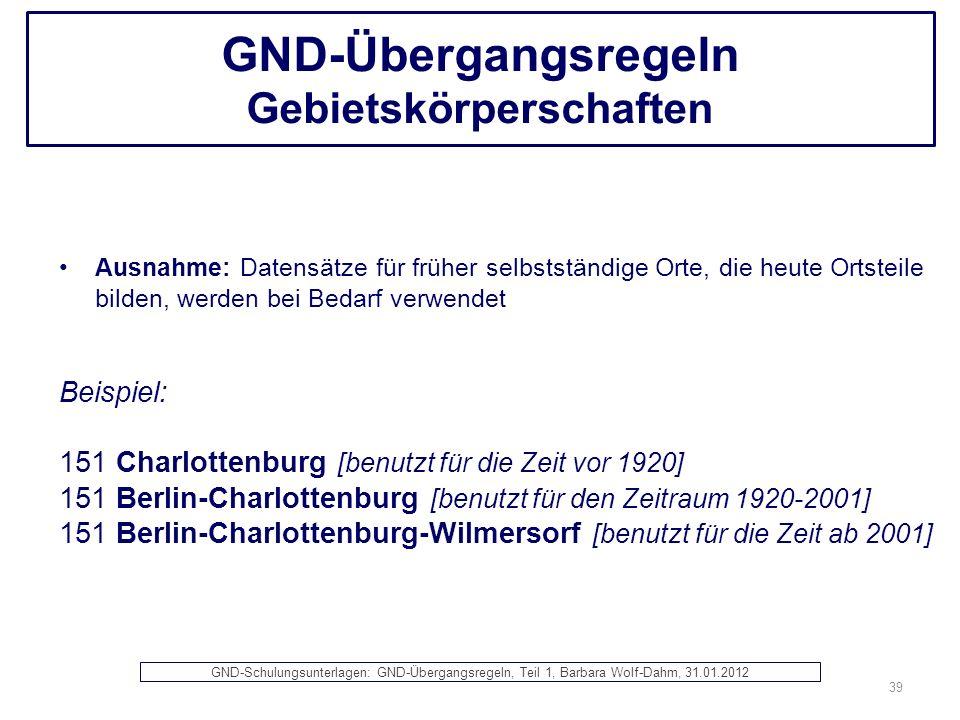 GND-Übergangsregeln Gebietskörperschaften