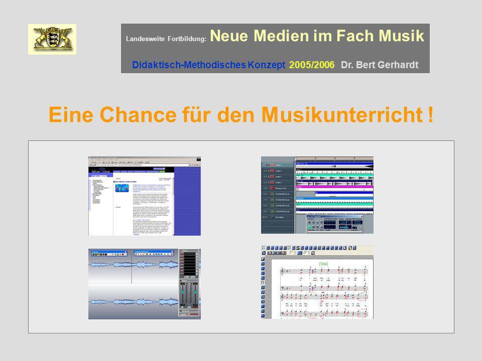 Eine Chance für den Musikunterricht !