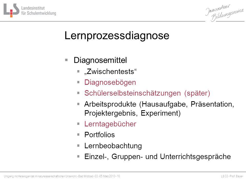 "Lernprozessdiagnose Diagnosemittel ""Zwischentests Diagnosebögen"
