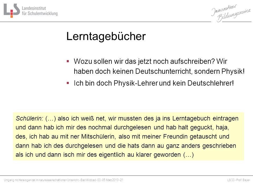 Lerntagebücher Wozu sollen wir das jetzt noch aufschreiben Wir haben doch keinen Deutschunterricht, sondern Physik!