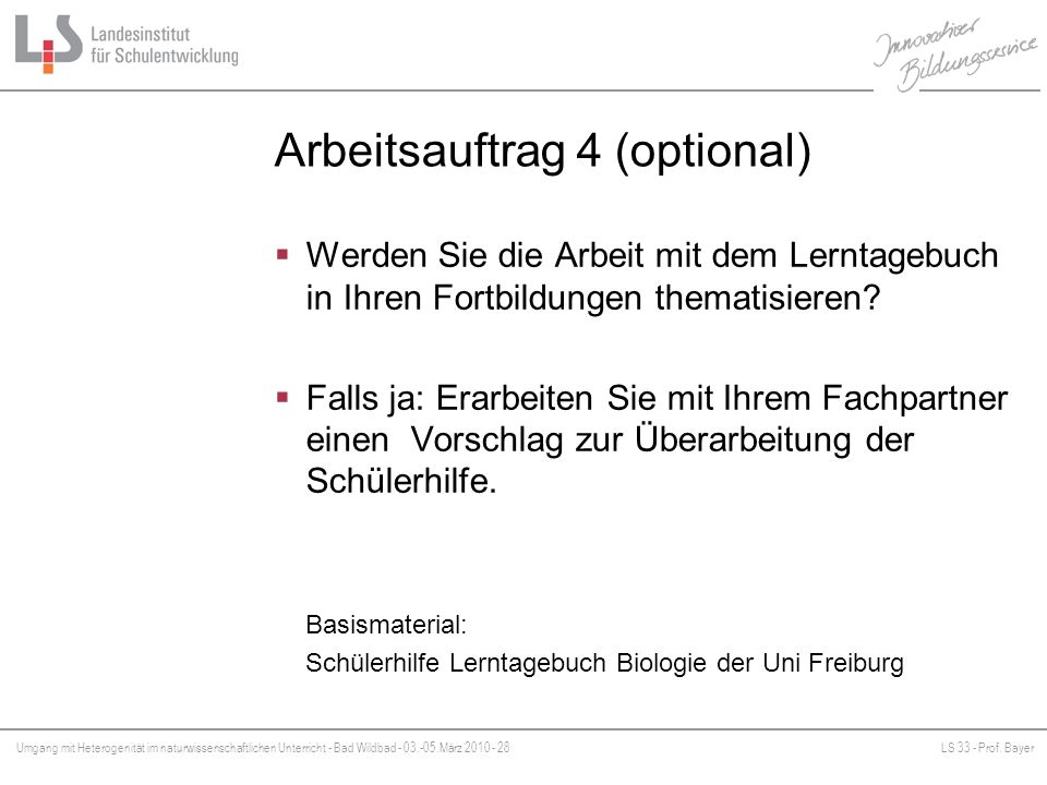 Arbeitsauftrag 4 (optional)