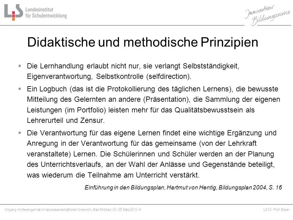 Didaktische und methodische Prinzipien