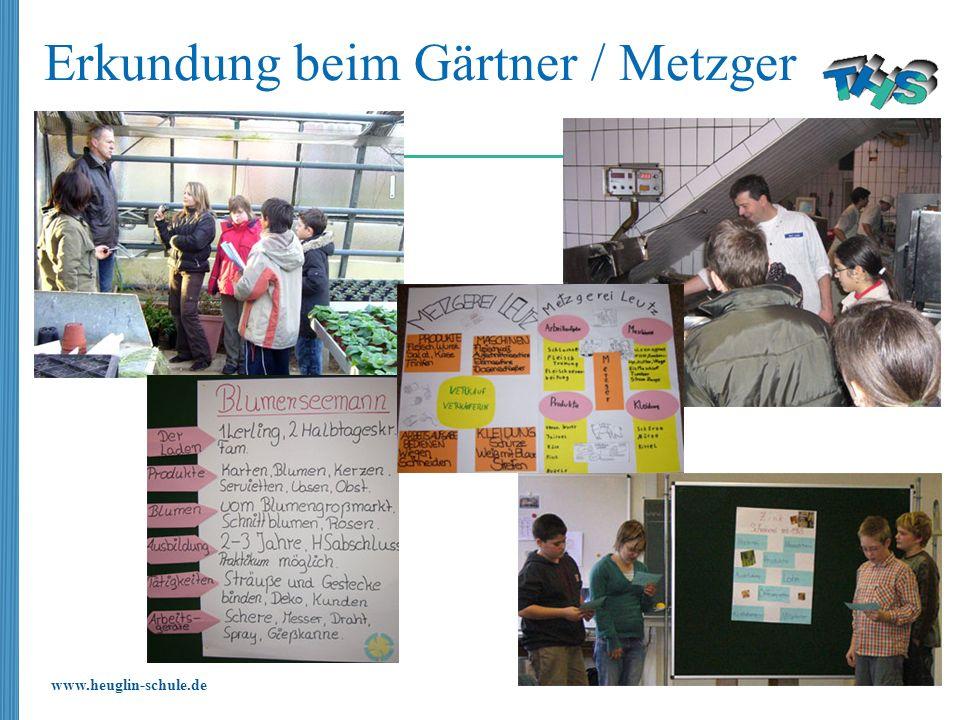 Erkundung beim Gärtner / Metzger