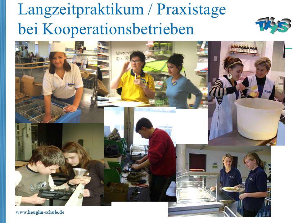 Langzeitpraktikum / Praxistage bei Kooperationsbetrieben