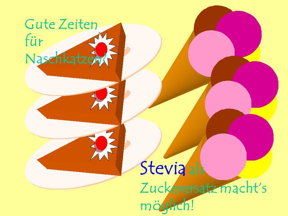 Stevia als Zuckerersatz macht's möglich!