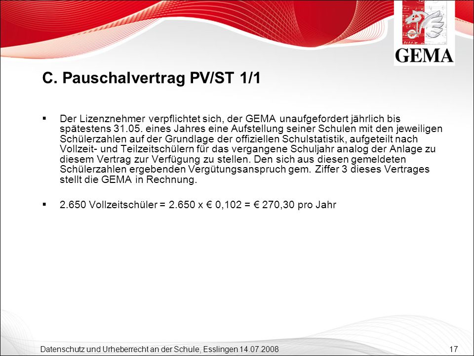 C. Pauschalvertrag PV/ST 1/1