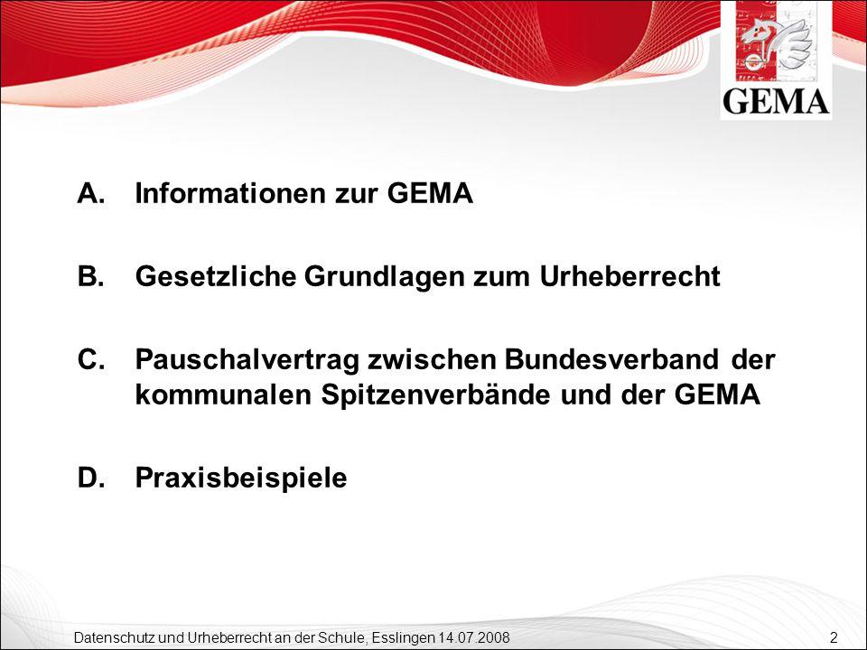 Informationen zur GEMA