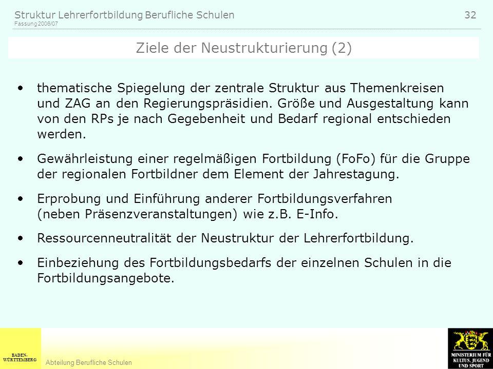 Ziele der Neustrukturierung (2)