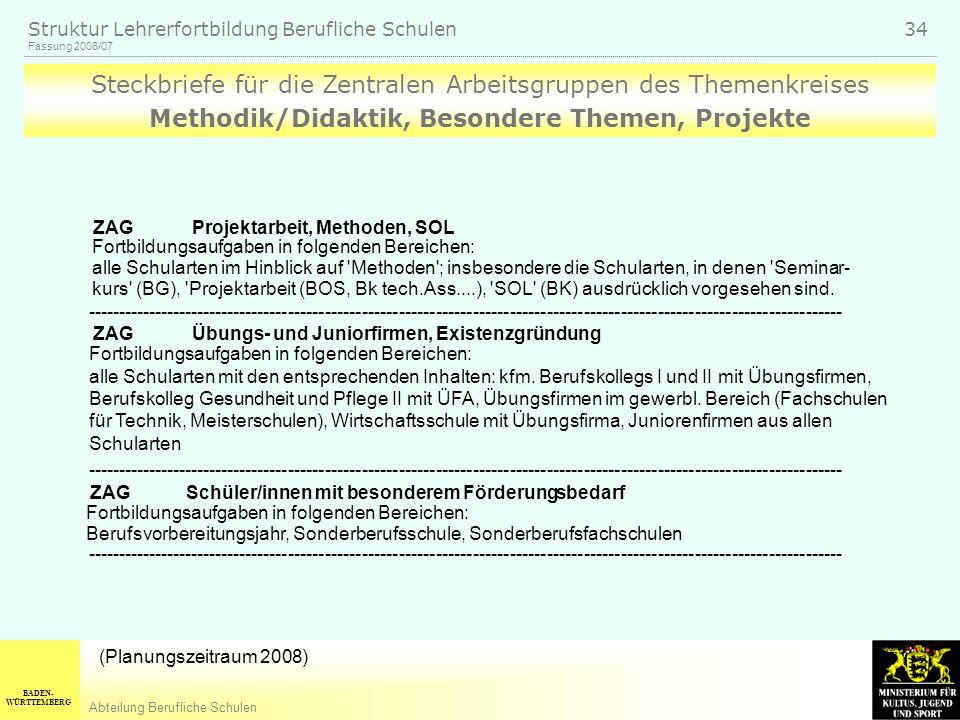 Methodik/Didaktik, Besondere Themen, Projekte