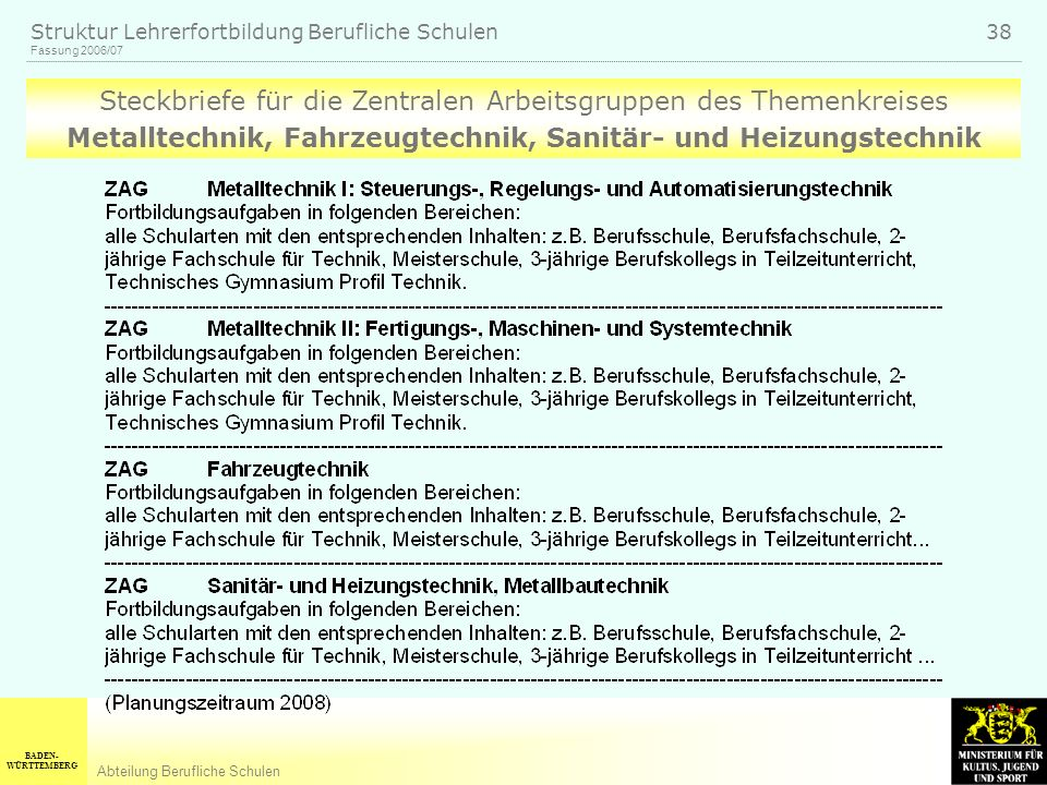 Metalltechnik, Fahrzeugtechnik, Sanitär- und Heizungstechnik