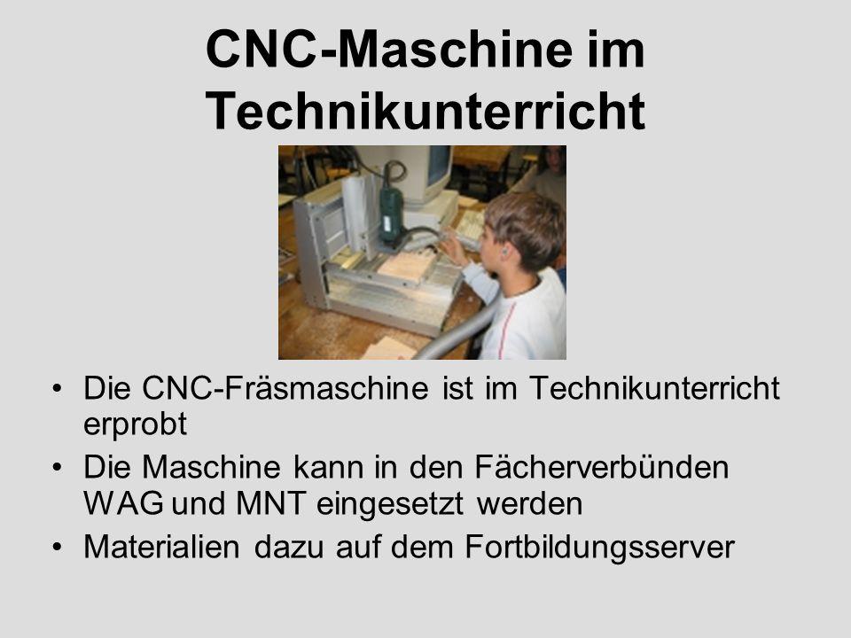 CNC-Maschine im Technikunterricht