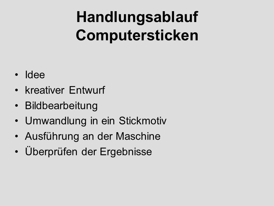 Handlungsablauf Computersticken