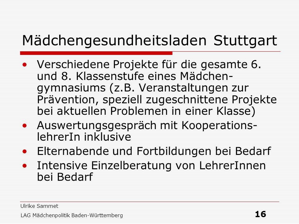 Mädchengesundheitsladen Stuttgart