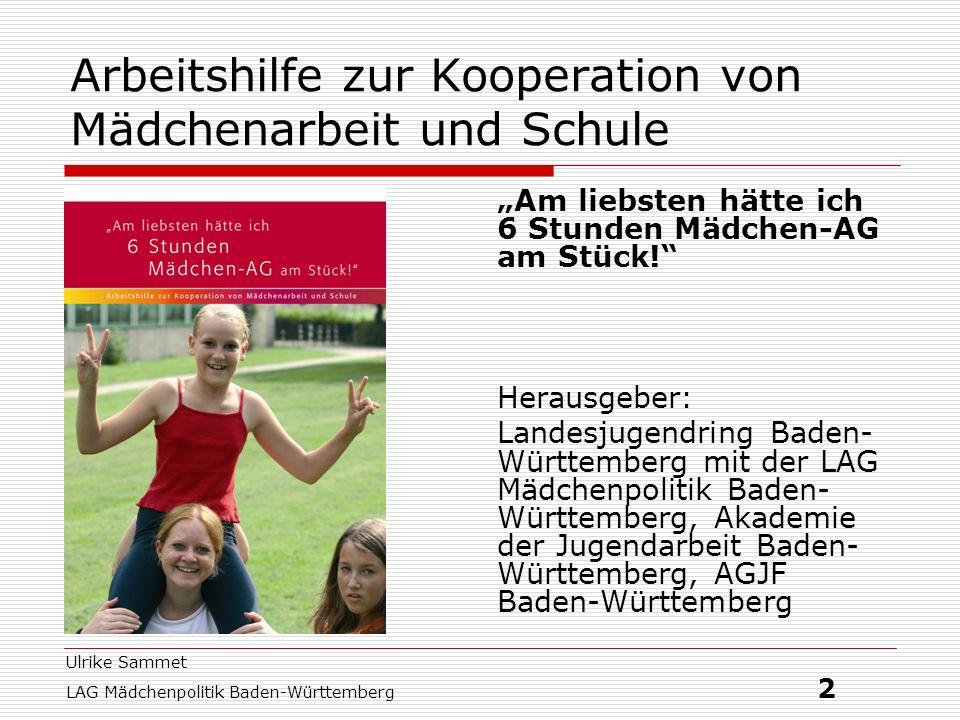 Arbeitshilfe zur Kooperation von Mädchenarbeit und Schule