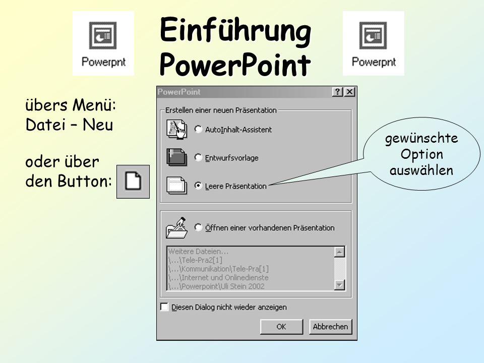Einführung PowerPoint