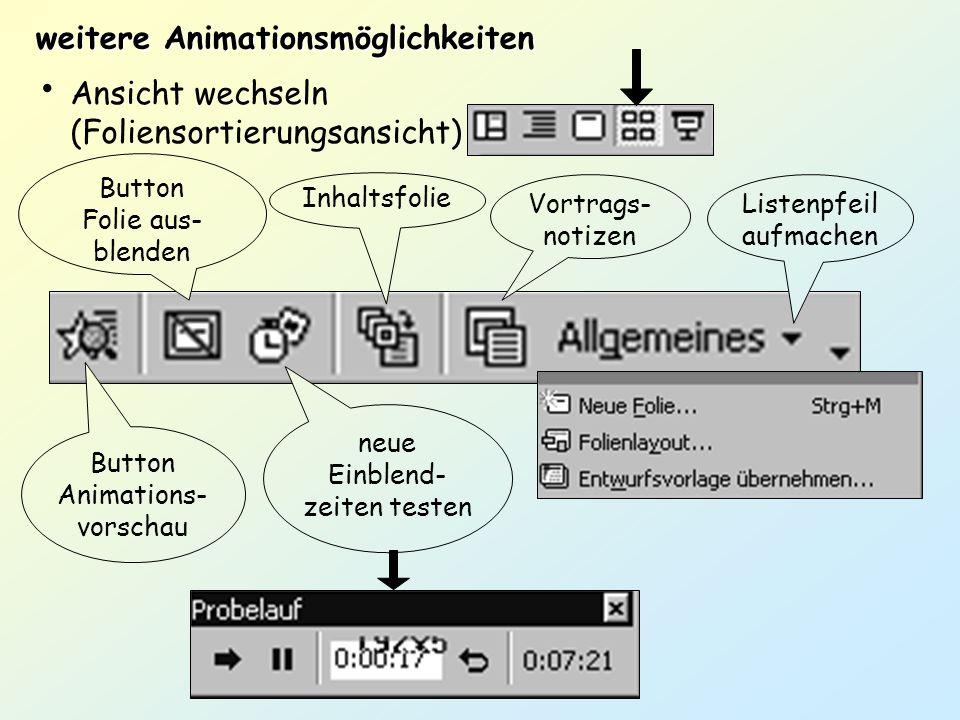 weitere Animationsmöglichkeiten