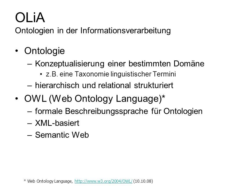 OLiA Ontologien in der Informationsverarbeitung