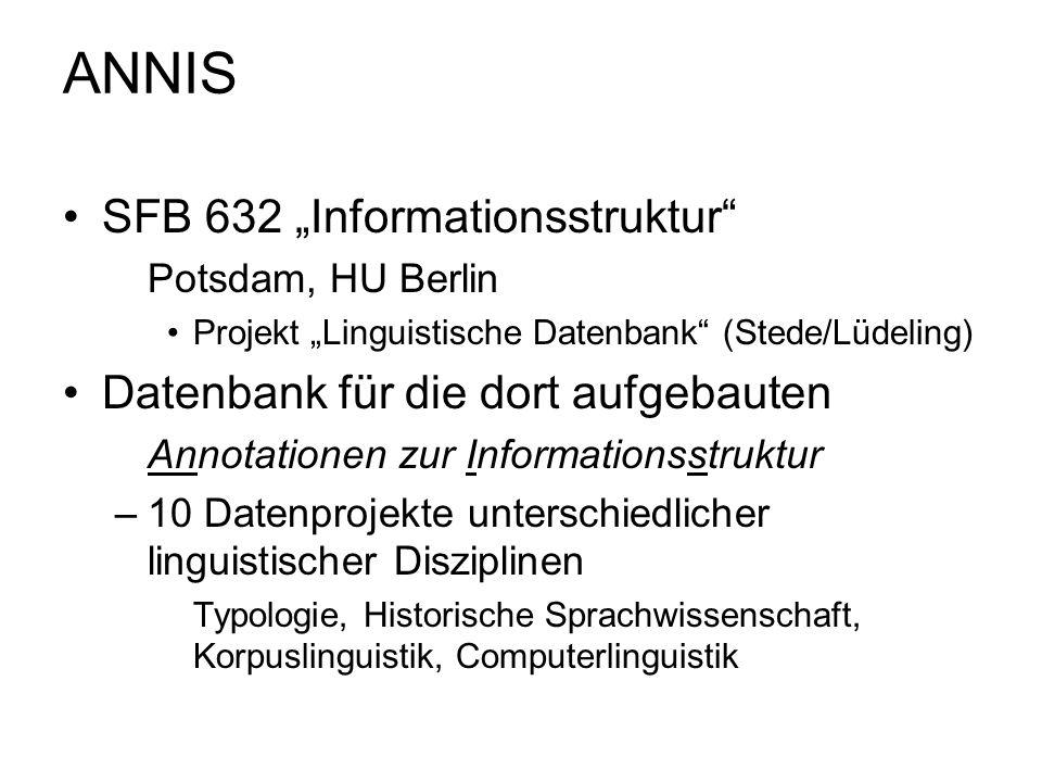 """ANNIS SFB 632 """"Informationsstruktur"""