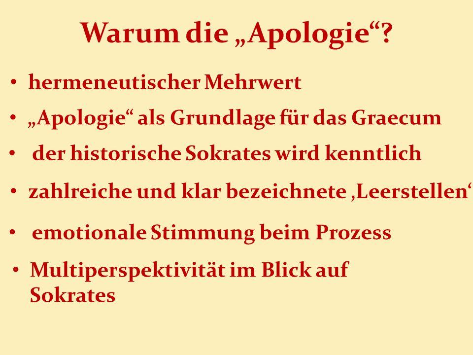"""Warum die """"Apologie hermeneutischer Mehrwert"""