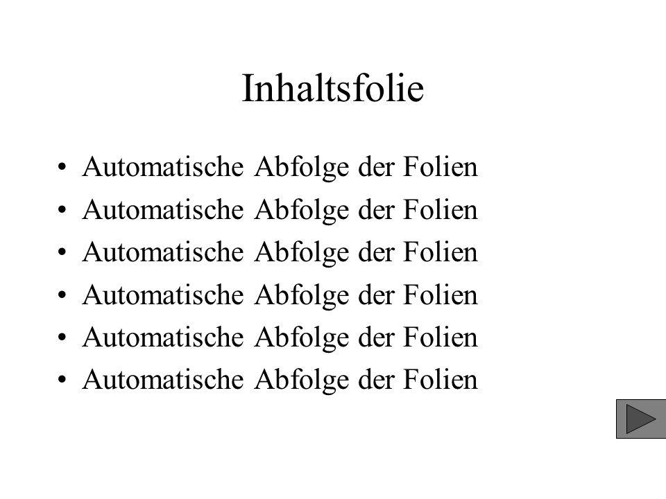 Inhaltsfolie Automatische Abfolge der Folien