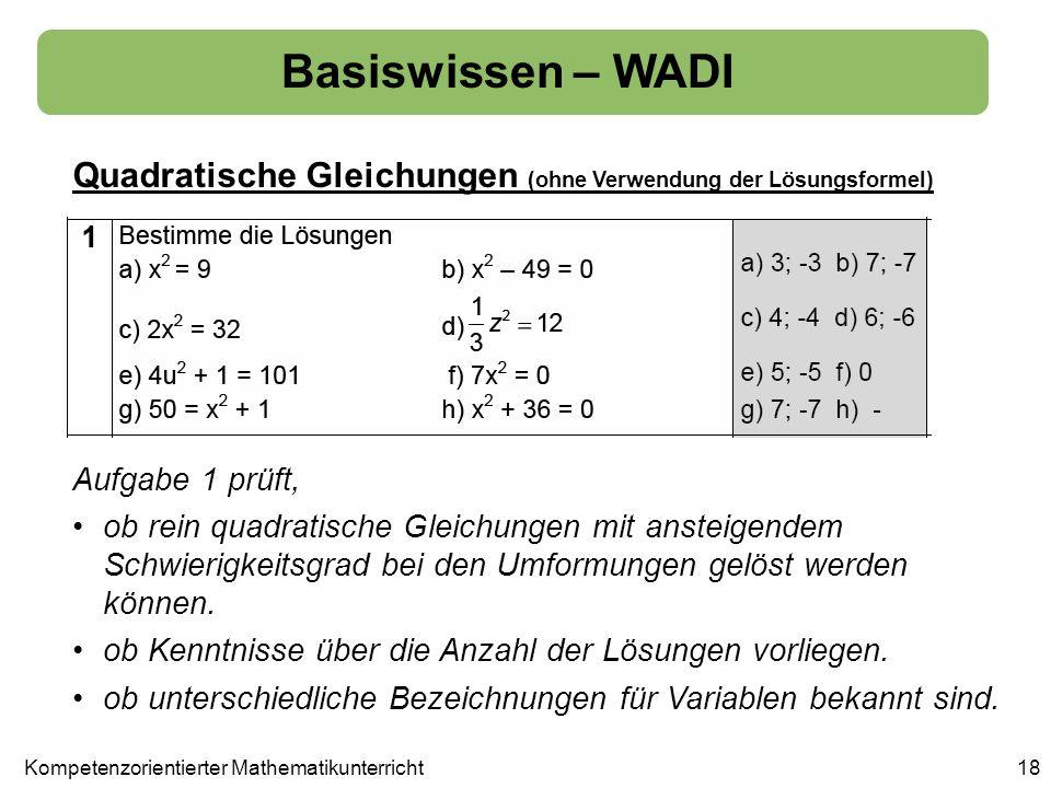 Kompetenzorientierter Mathematikunterricht