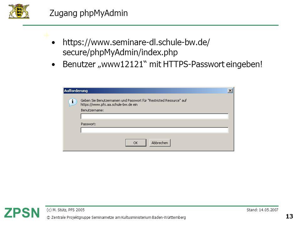 https://www.seminare-dl.schule-bw.de/ secure/phpMyAdmin/index.php