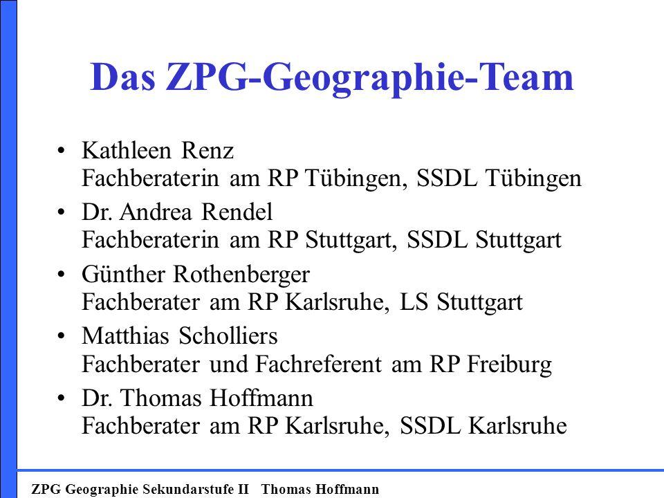 Das ZPG-Geographie-Team