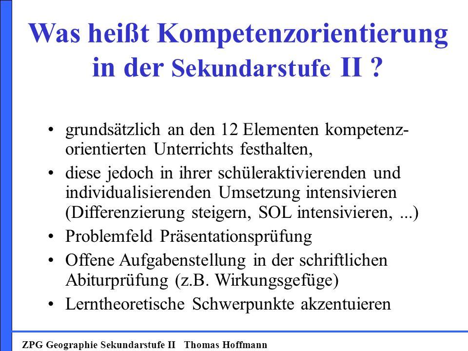 Was heißt Kompetenzorientierung in der Sekundarstufe II