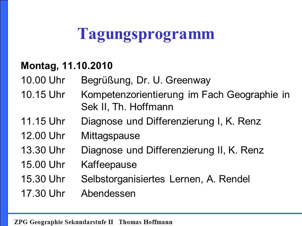 Tagungsprogramm Montag, 11.10.2010