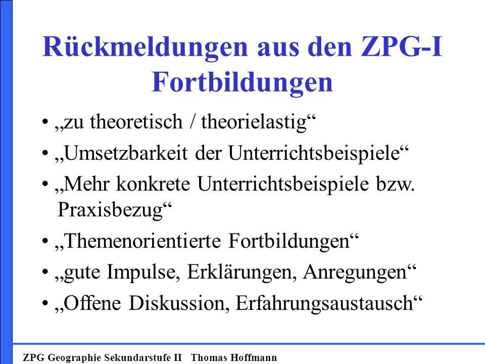 Rückmeldungen aus den ZPG-I Fortbildungen