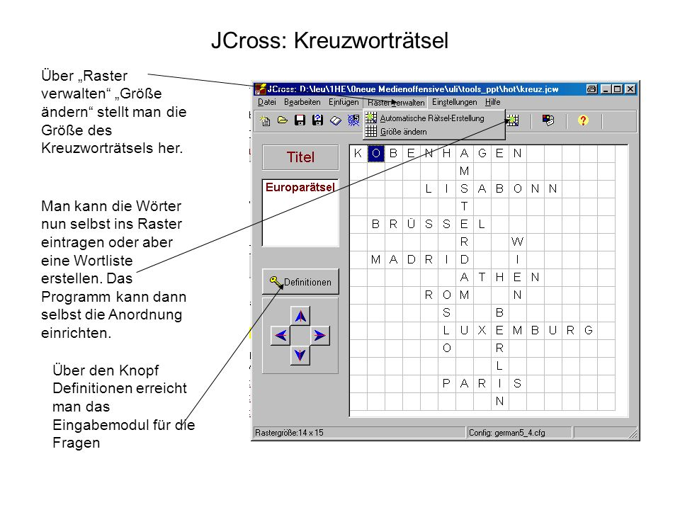 JCross: Kreuzworträtsel