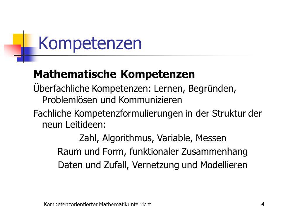 Kompetenzen Mathematische Kompetenzen