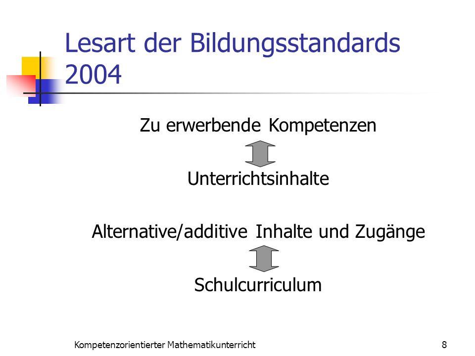 Lesart der Bildungsstandards 2004