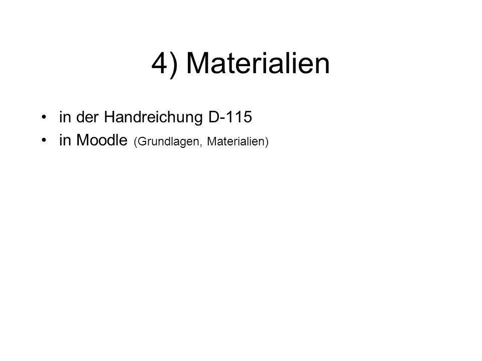 4) Materialien in der Handreichung D-115