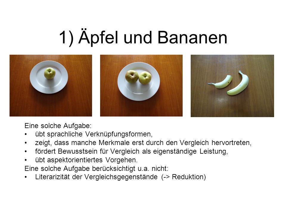1) Äpfel und Bananen Eine solche Aufgabe: